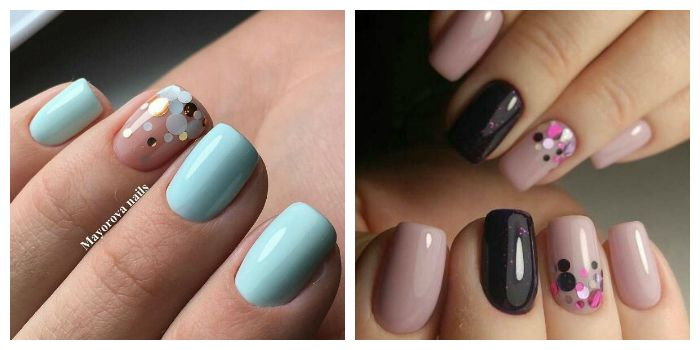 Камифубуки на коротких ногтях