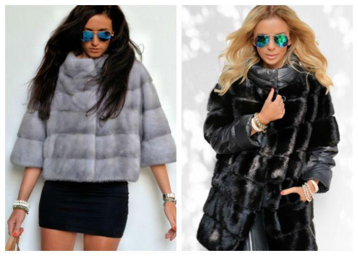 Куртки из норки: модели 2016-2017 фото