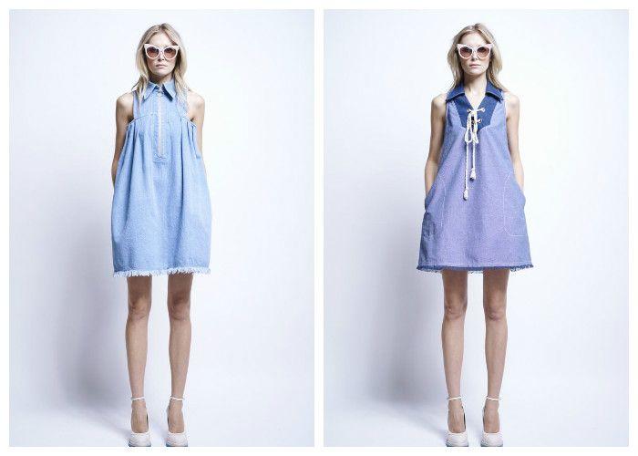 Джинсовые платья весна-лето