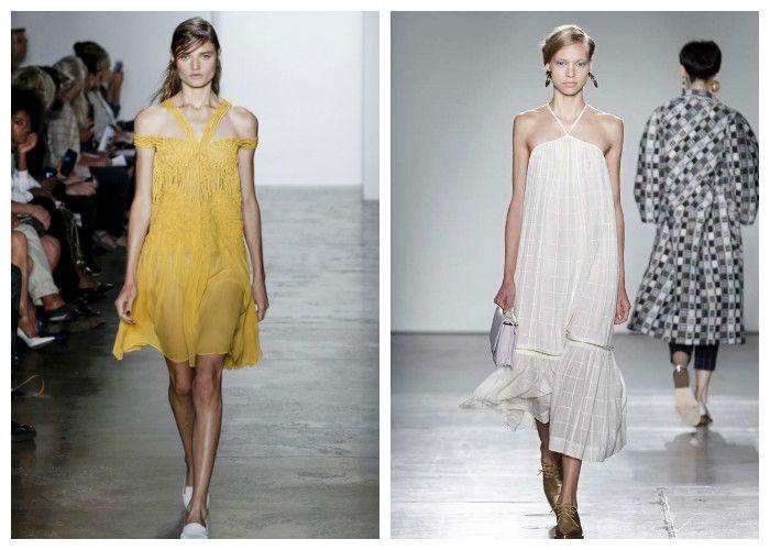 Платья весна-лето с открытыми плечами