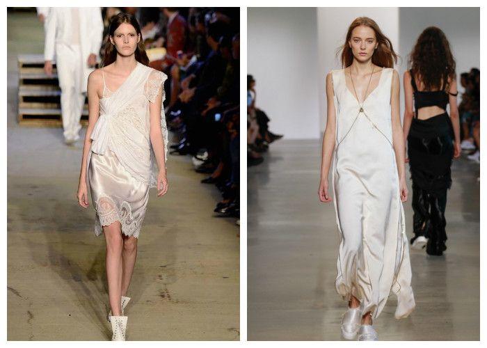 Шелковые платья весна-лето