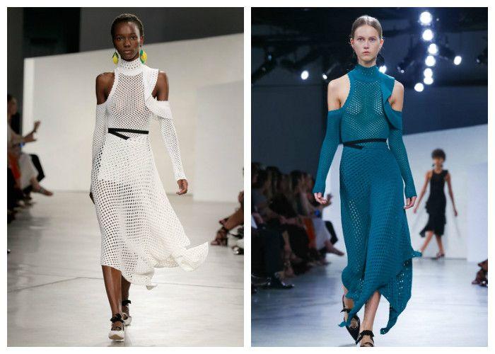 Прозрачные платья весна-лето