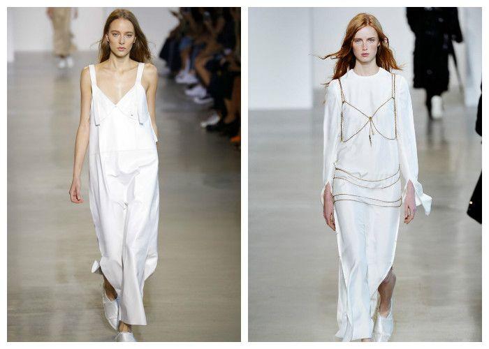 Белые платья весна-лето: коллекция Calvin Klein