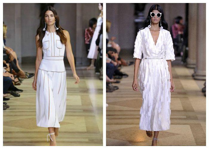 Белые платья весна-лето: коллекция Carolina Herrera