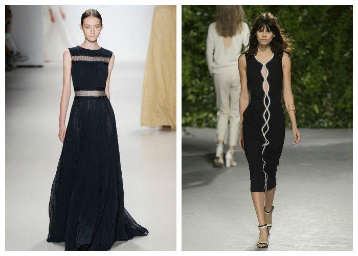 Черные платья весна-лето