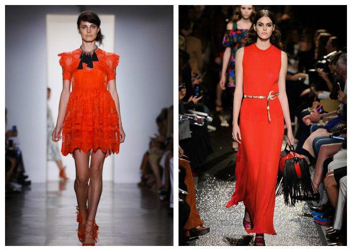 Платья весна-лето оранжевого цвета