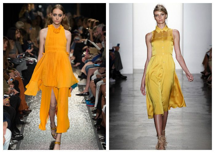 Желтые платья весна-лето