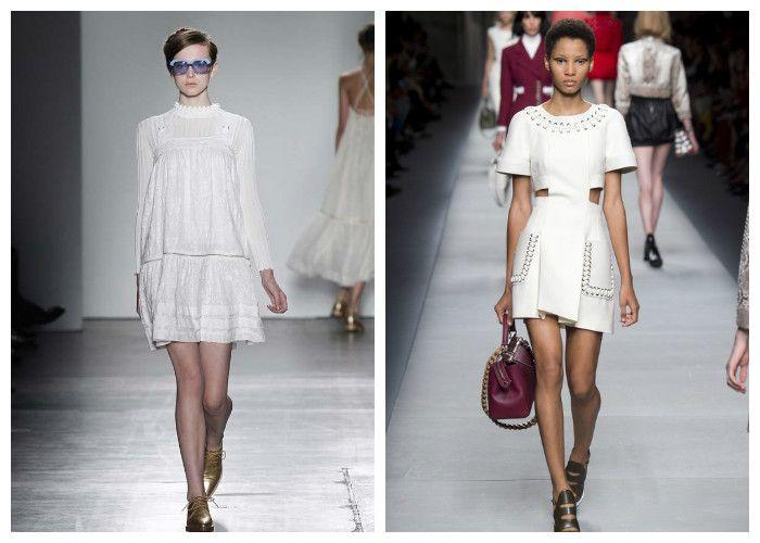 Белые платья весна-лето (фото)