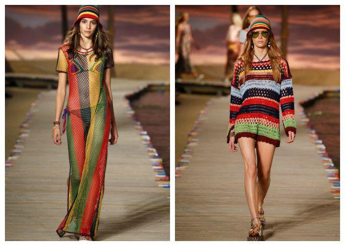 Вязаные пляжные платья Tommy Hilfiger (фото)