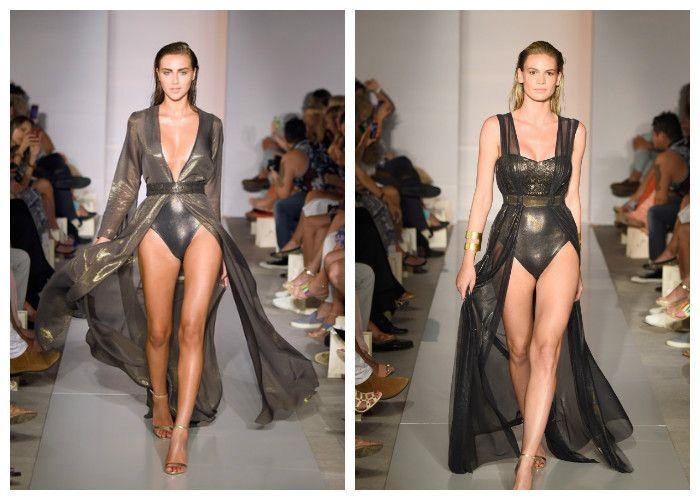 Пляжные платья: стиль глэм-металлик коллекция GOTTEX (фото)