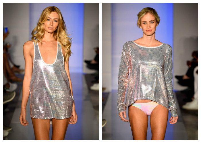 Пляжные платья: стиль глэм-металлик (фото)