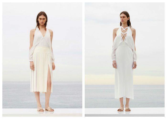 Пляжные платья с открытыми плечами фото 2016: Dion Lee