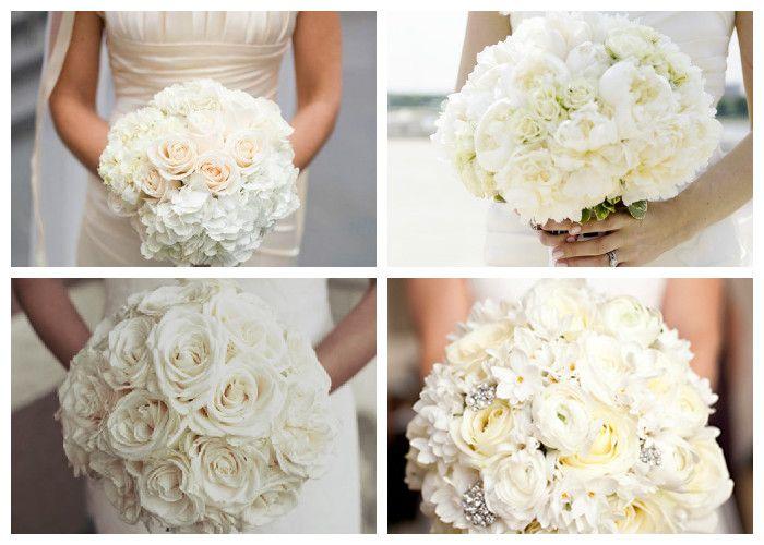 Свадебный букет белый (фото)