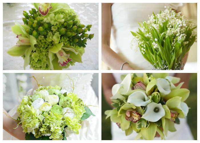 Зеленый свадебный букет (фото)