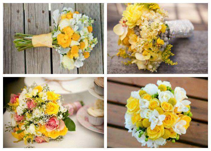 Желтый свадебный букет (фото)