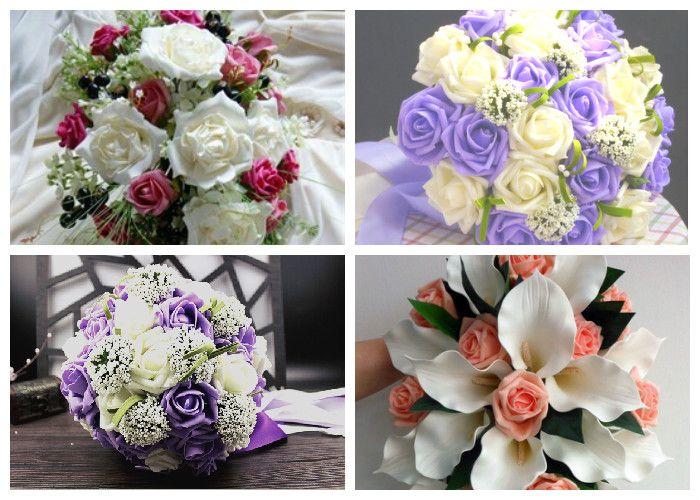 Свадебный букет 2017 из искусственных роз