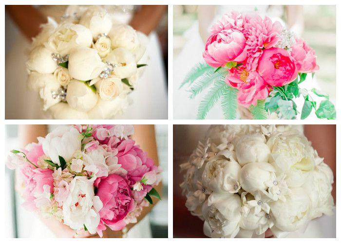 Свадебный букет для невесты из пионов