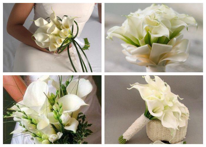 Свадебный букет для невесты из калл