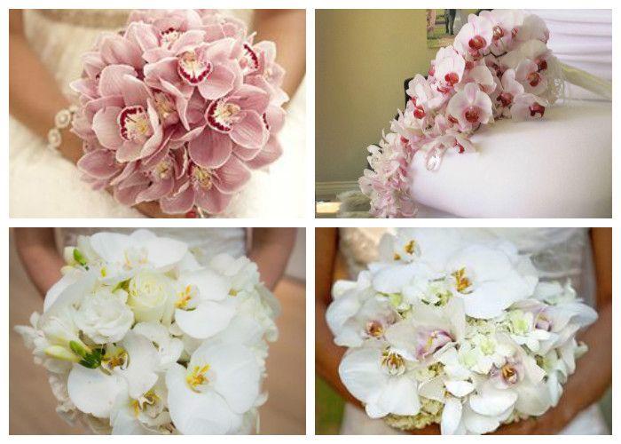 Свадебный букет для невесты из орхидей
