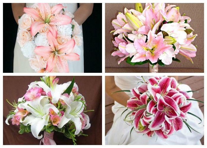 Свадебный букет для невесты из лилий