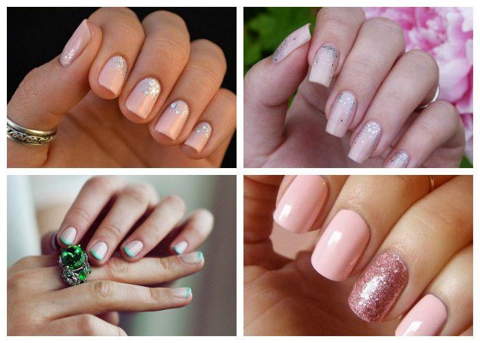 Свадебный маникюр на короткие ногти (фото)