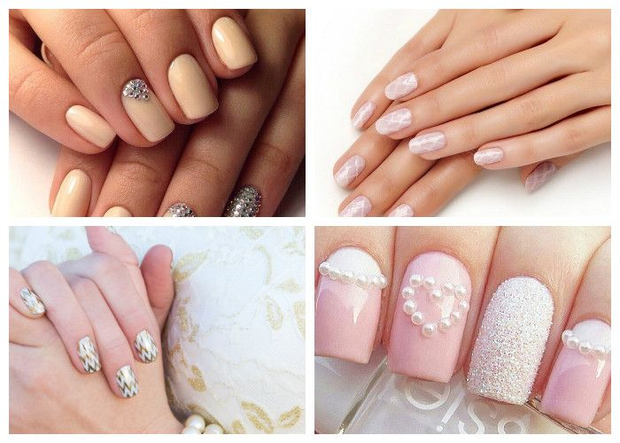 Маникюр на короткие ногти на свадьбу фото