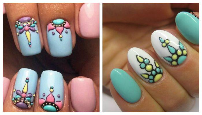Модный дизайн ногтей на 8 марта