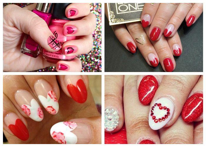 Маникюр на День святого Валентина (14 февраля), фото