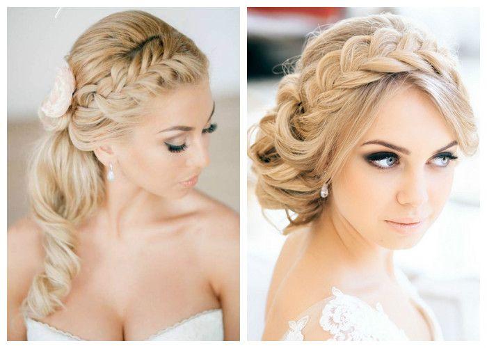 Свадебные прически из кос на длинные волосы (фото)