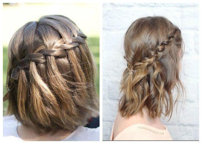 Прическа из кос на средние волосы (фото)