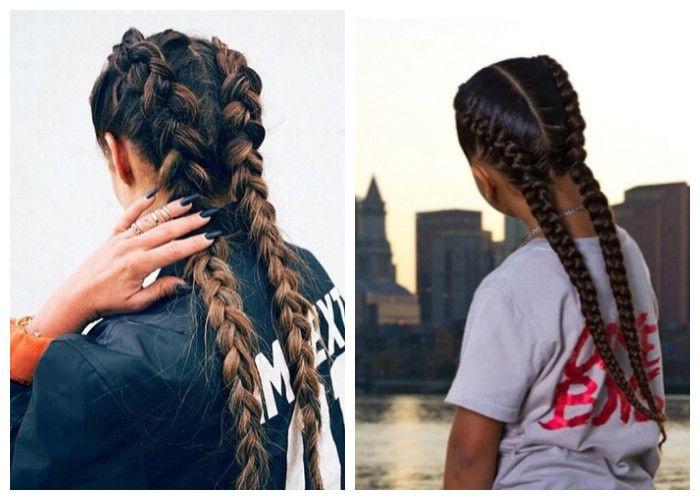 Двойная голландская коса (фото)