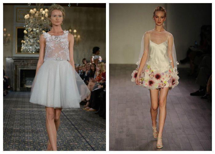 Короткие свадебные платья: новинки (фото)