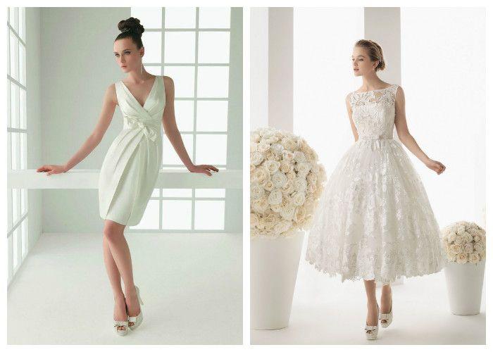 Короткое свадебное платье: фото