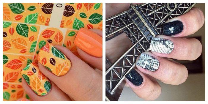 Модный летний маникюр с наклейками (фото)