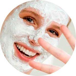 Маска из белой глины для лица