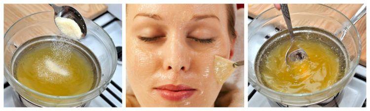 Маска с желатином для лица: рецепты