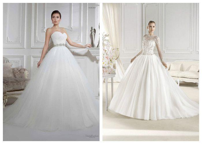 Пышные свадебные платья для высоких и худых девушек