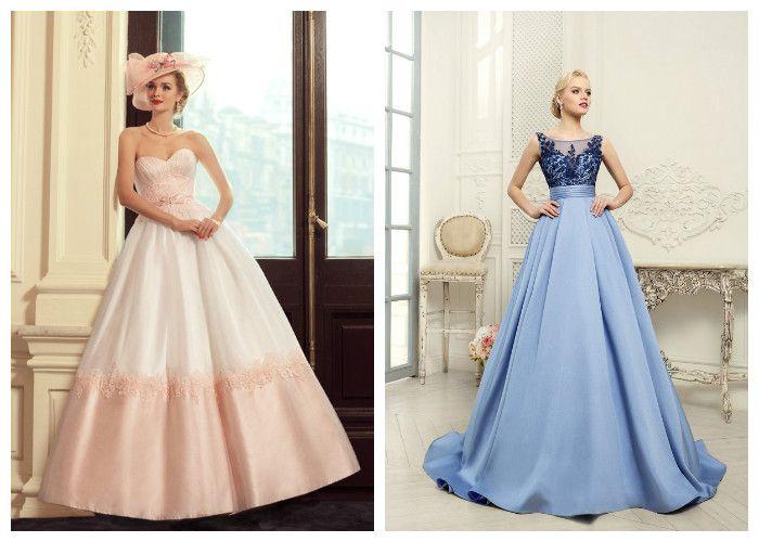 Пышное свадебное платье: модные цвета