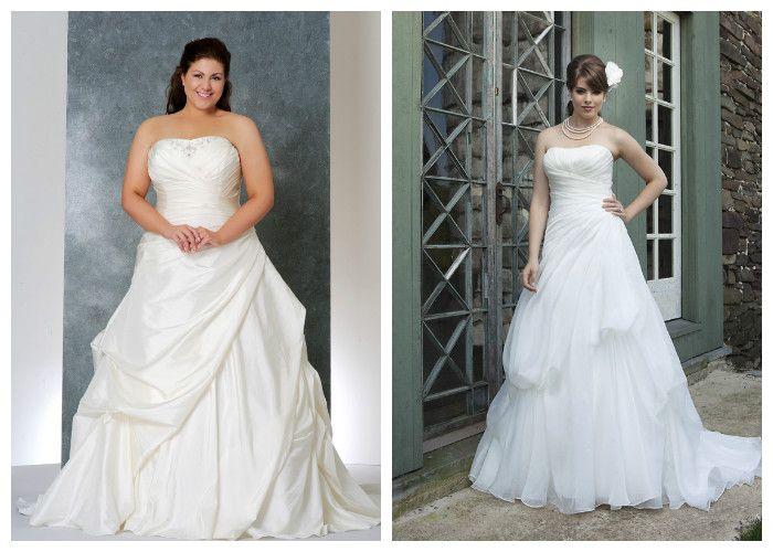 Пышные свадебные платья для полных девушек