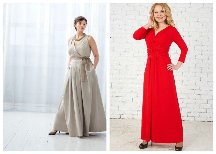 Длинные вечерние платья для полных девушек (фото)