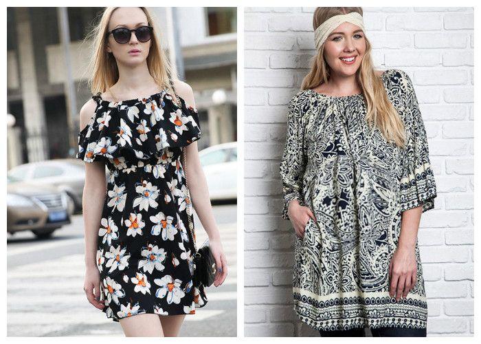 Платья-туники для полных девушек (фото)