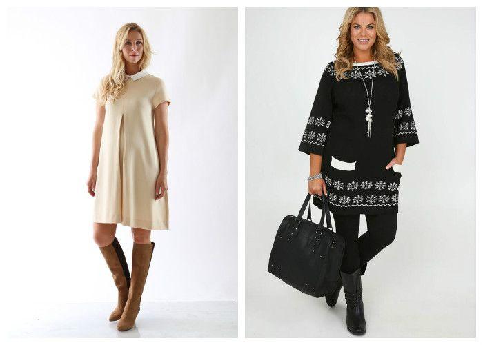 Платья прямого фасона для полных девушек (фото)