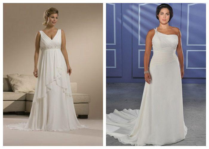 Свадебные платья в греческом стиле для полных девушек (фото)