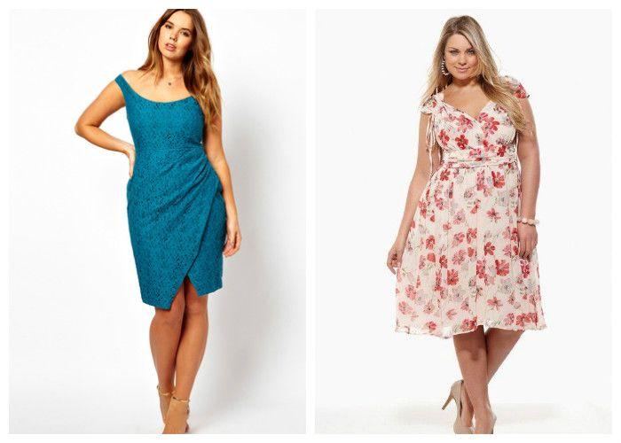 Повседневные летние платья для полных девушек (фото)