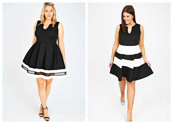 Короткие платья для полных девушек (фото)