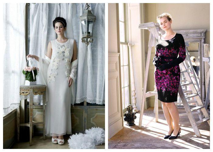 Фото платья для полных девушек: бренд Marina Rinaldi