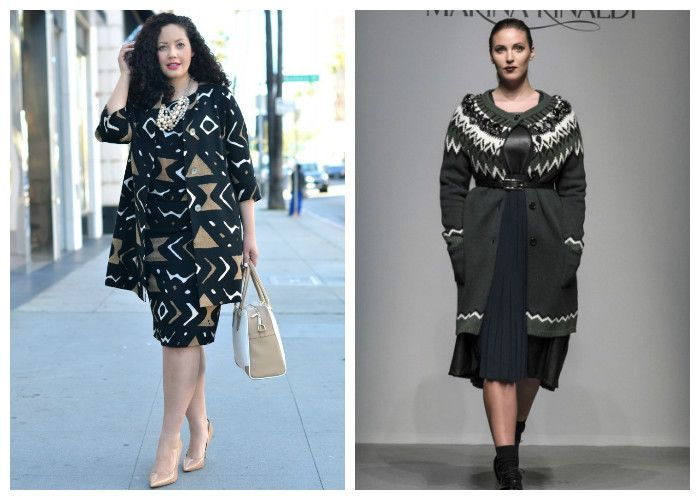 Фото, платья для полных девушек осень-весна: бренд Marina Rinaldi