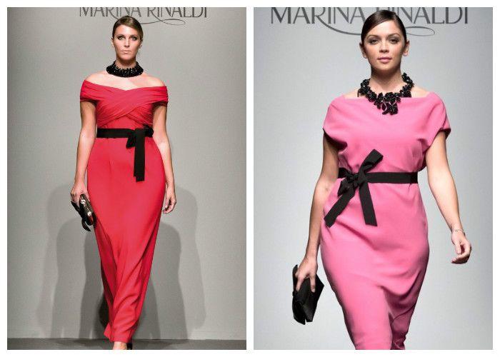 Красивые, яркие платья для полных девушек: бренд Marina Rinaldi (фото)