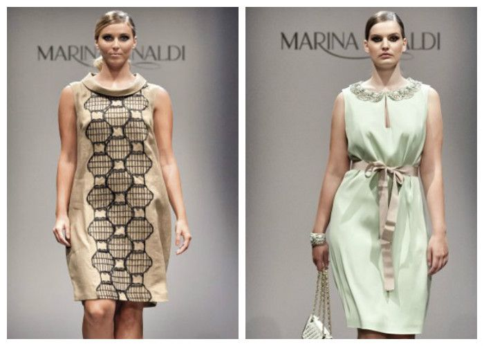 Летние платья для полных девушек: бренд Marina Rinaldi (фото)