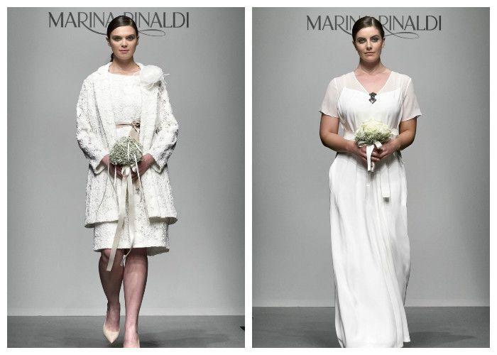 Белые свадебные платья для полных девушек: бренд Marina Rinaldi (фото)